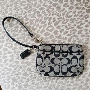 COACH black wristlet wallet